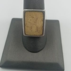 Jewelry - Sterling Silver Sudo Wooden Inlay Ring